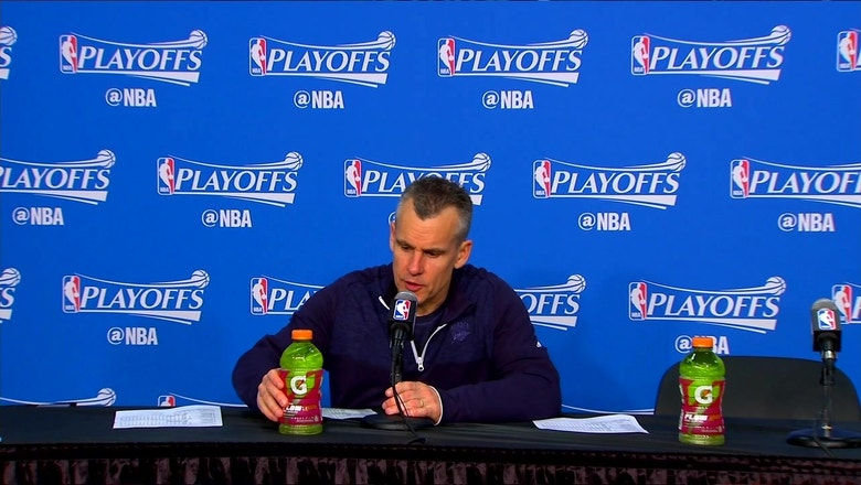 Billy Donovan talks 115-113 win in Game 3 over Rockets