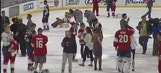 Panthers give fans the jerseys off their backs Thursday night