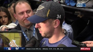 Allen on Blues back in Minnesota: 'We've had success in that building'