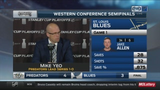 Yeo: Blues need to 'find a way to be better' next game