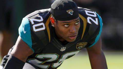 Dec 11, 2016; Jacksonville, FL, USA; Jacksonville Jaguars cornerback Jalen Ramsey (20) warms up prior to a game against the Minnesota Vikings at EverBank Field. Mandatory Credit: Logan Bowles-USA TODAY Sports