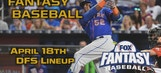 Daily Fantasy Baseball Advice – April 18
