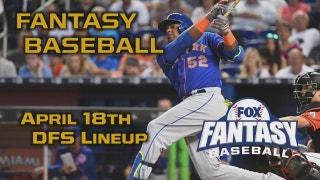 Daily Fantasy Baseball Advice - April 18