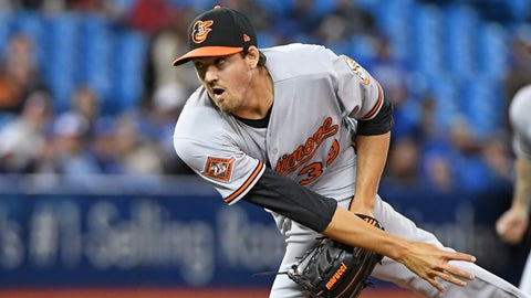 TORONTO, ON - APRIL 13:  Baltimore Orioles Starting pitcher Kevin Gausman (39) pitches during the regular season MLB game between the Baltimore Orioles and Toronto Blue Jays on April 13, 2017 at Rogers Centre in Toronto, ON. (Photo by Gerry Angus/Icon Sportswire via Getty Images)