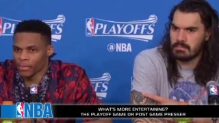 Are the NBA postgame press conference more entertaining than the games?