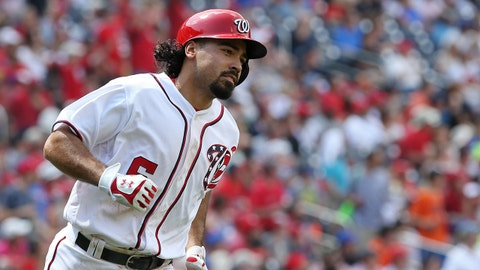Apr 30, 2017; Washington, DC, USA; Washington Nationals third baseman Anthony Rendon (6) rounds the bases after hitting a home run against the New York Mets in the third inning at Nationals Park. Mandatory Credit: Geoff Burke-USA TODAY Sports