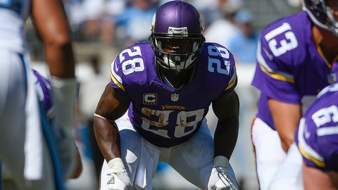 11 September 2016: Minnesota Vikings Running Back Adrian Peterson (28) [9379] during game action between the Minnesota Vikings and the Tennessee Titans at Nissan Stadium in Nashville, TN. (Photo by Robin Alam/Icon Sportswire)