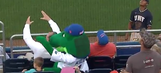 Florida's mascot Albert shielded a kid from a baseball, got whacked in the head