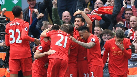 Liverpool continue to dominate the Premier League's best