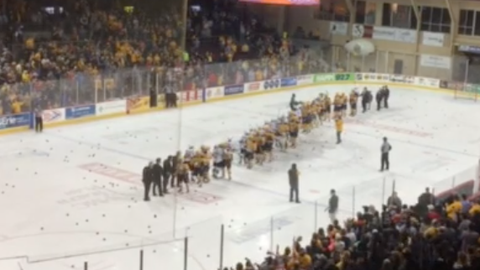 Arena bans cowbells after some are thrown during hockey game