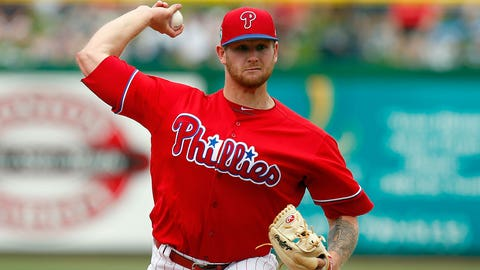 CLEARWATER, FL - MARCH 12:  Ben Lively #72 of the Philadelphia Phillies in action against the Boston Red Sox during a spring training game at Spectrum Field on March 12, 2017 in Clearwater, Florida. (Photo by Justin K. Aller/Getty Images)