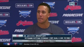 Brantley happy to be back producing for Tribe lineup