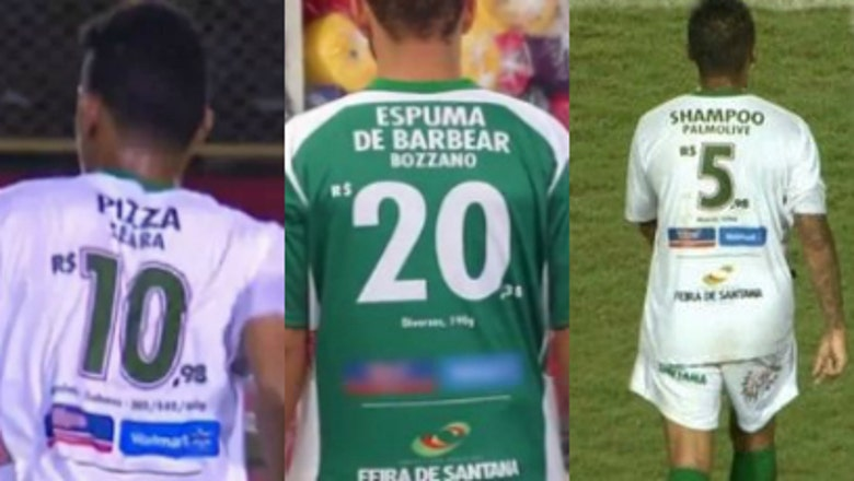 A Brazilian soccer team found a brilliant way to use its jersey numbers as ads