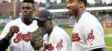Cleveland Browns draft picks throw out first pitch at Indians game