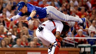 Chris Coghlan front-flips over Yadier Molina to score vs. Cardinals