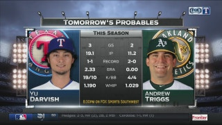 Darvish set to face Oakland in Game 2 of series