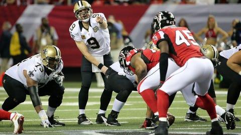 December 7: New Orleans Saints at Atlanta Falcons, 8:25 p.m. ET