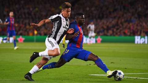 Juventus pressed Barcelona high from the start