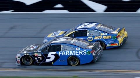 Daytona, 5.5 percent of laps under caution between stages