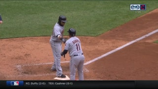 HIGHLIGHTS: Indians plate three, two via walks, in 7th inning to take lead