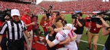 A military dad surprised his family at the Nebraska spring game