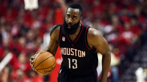 Harden outduels Russ as Rockets silence Thunder