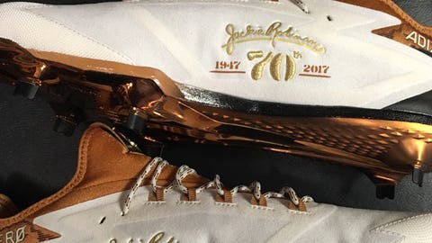 Josh Harrison with some custom cleats from adidas