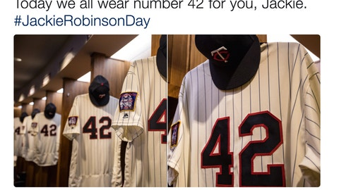 The Twins' locker room is ready