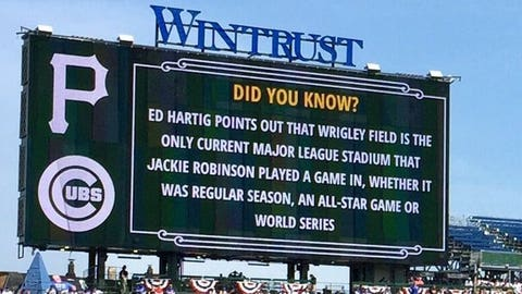 The Cubs post an interesting fact at Wrigley