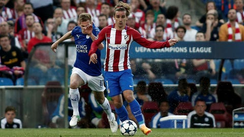 Champions League: Atletico Madrid beat Leicester 1-0 in first leg