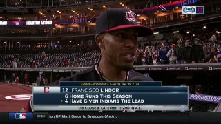 When the game gets big, Francisco Lindor rises above it
