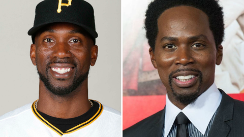 Pittsburgh Pirates OF Andrew McCutchen and actor Harold Perrineau