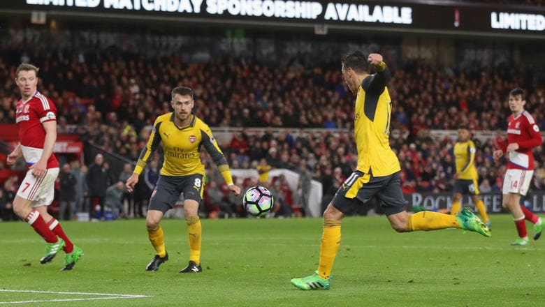 Watch: Mesut Ozil, Alexis Sanchez lead Arsenal to key win over Middlesbrough