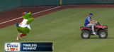 Noah Syndergaard stole the Phillie Phanatic's ATV right from under his long, fuzzy nose