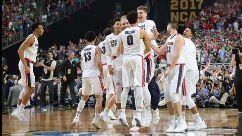 Gonzaga celebrates its semifinal victory