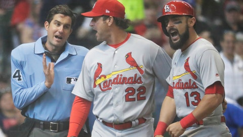 Cardinals' Carpenter suspended 1 game for contact with ump