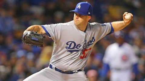 Dodgers starting pitcher Alex Wood (1-0, 1.00)