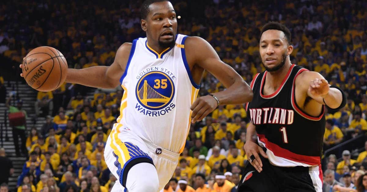Warriors' Kevin Durant listed as questionable for Game 2 vs. Blazers | FOX Sports