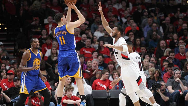 Warriors sweep Blazers, earn rest for 2nd round