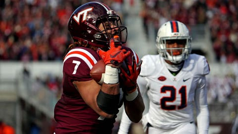 6th round: Bucky Hodges, TE, Virginia Tech