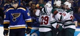 Blues unable to complete sweep of Wild with 2-0 loss
