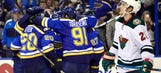Blues take commanding 3-0 series lead with win over Wild