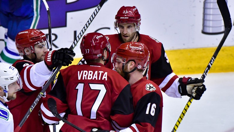 Vrbata scores twice in return, Coyotes hold off Canucks