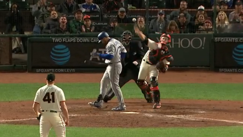 Buster Posey picks off Dodgers' Turner at second base for final out of 2-1 win