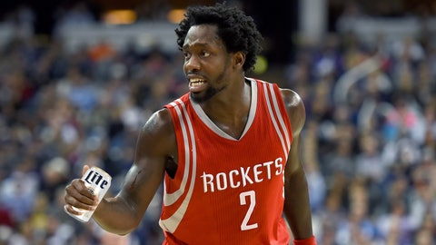 SACRAMENTO, CA - DECEMBER 15:  Patrick Beverley #2 of the Houston Rockets reacts after he was called for a foul against the Sacramento Kings during an NBA basketeball game at Sleep Train Arena on December 15, 2015 in Sacramento, California. NOTE TO USER: User expressly acknowledges and agrees that, by downloading and or using this photograph, User is consenting to the terms and conditions of the Getty Images License Agreement.  (Photo by Thearon W. Henderson/Getty Images)