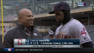 Carlos Santana, Indians starting to feel comfortable after sweep vs. Twins