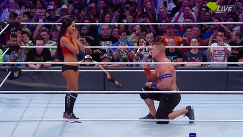 John Cena proposed to Nikki Bella