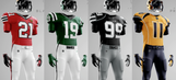 These NHL/NFL crossover uniforms are absolutely gorgeous