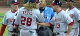 Jayson Werth erupts after strange umpiring decision at end of Nats-Braves