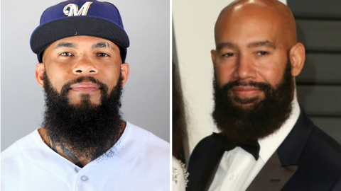 Brewers 1B Eric Thames and music video director Alan Ferguson